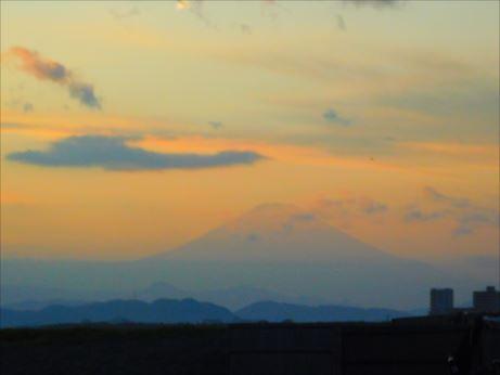 富士山夕映え